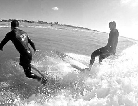 Fun, Surfing Equipment, Surfboard, Recreation, Surface water sports, Leisure, Boardsport, Mammal, People in nature, Water sport,