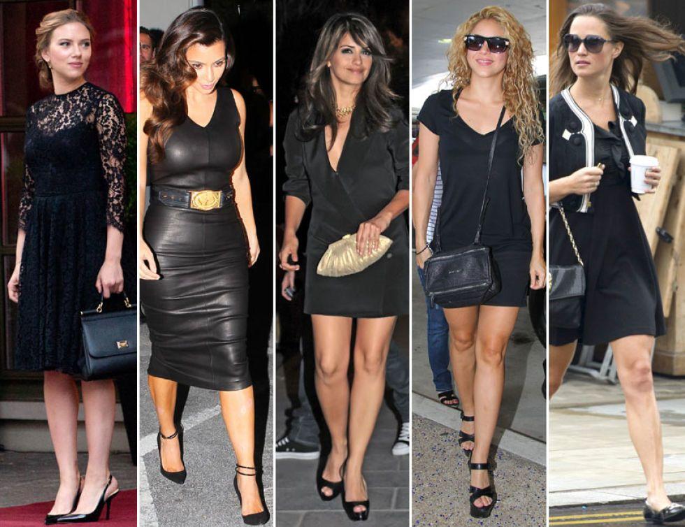 Vestido negro y complementos