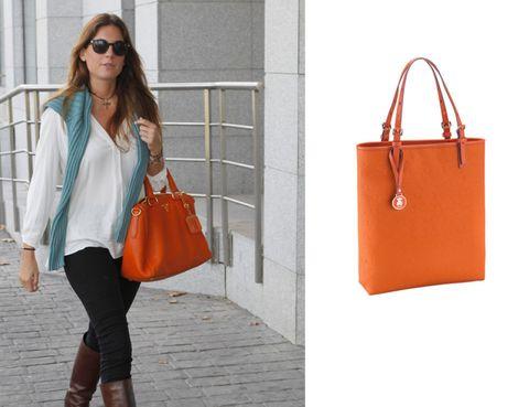 Clothing, Eyewear, Vision care, Product, Brown, Bag, Shoulder, Orange, Textile, Red,