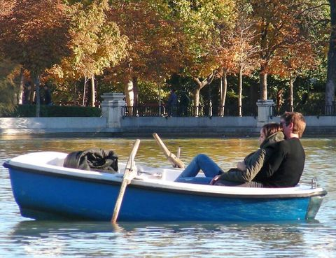 Water, Watercraft, Boat, Waterway, Sitting, Comfort, Boats and boating--Equipment and supplies, Lake, Skiff, Reflection,