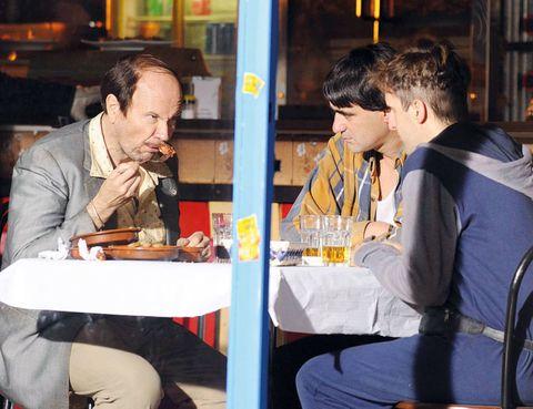 Sitting, Sharing, Conversation, Cuisine, Customer, Dish, Shelf, Plate, Eating, Meal,