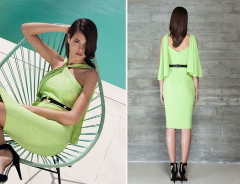 Clothing, Green, Sleeve, Shoulder, Human leg, Joint, Style, Elbow, Sitting, Summer,