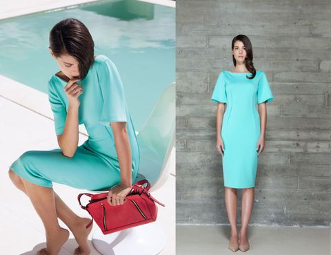 Clothing, Blue, Green, Sleeve, Human leg, Shoulder, Joint, Elbow, Aqua, Teal,