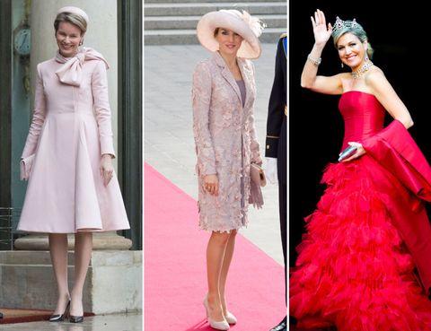 Clothing, Sleeve, Shoulder, Hat, Dress, Textile, Collar, Outerwear, Formal wear, Pink,