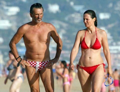 Swimwear, Fun, Brassiere, Swimsuit bottom, Chest, Swimsuit top, Bikini, Undergarment, Thigh, Summer,