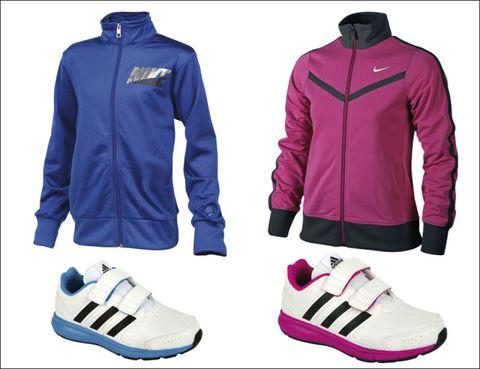 Footwear, Blue, Product, Sleeve, Sportswear, Textile, Jacket, White, Outerwear, Red,