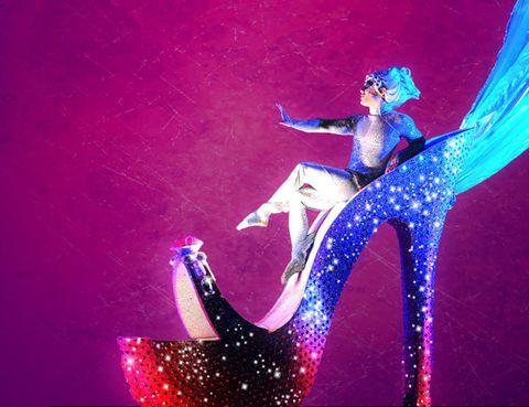 Pink, Magenta, Purple, Art, Violet, Visual arts, High heels, Modern art, Painting, Illustration,