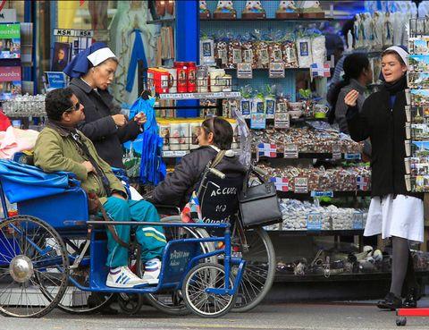 Retail, Trade, Customer, Marketplace, Market, Bag, Bicycle tire, Street fashion, Selling, Spoke,