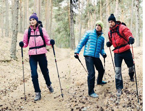 Footwear, Product, Recreation, Winter, People in nature, Outdoor recreation, Hiking equipment, Adventure, Jacket, Walking,
