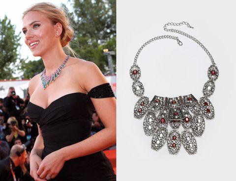 Shoulder, Strapless dress, Jewellery, Fashion accessory, Style, Dress, Body jewelry, Fashion, Day dress, Necklace,