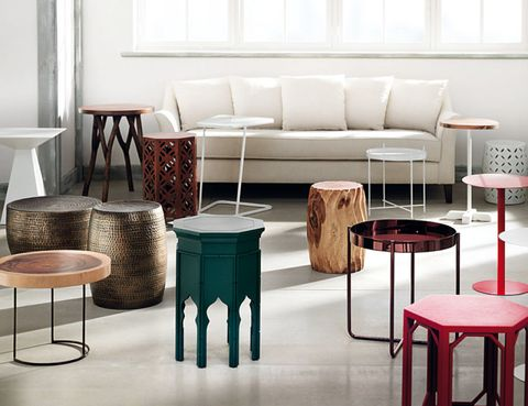 Room, Interior design, Furniture, Floor, Wall, Couch, Grey, Stool, Living room, Rectangle,