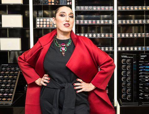 Jewellery, Lipstick, Shelf, Makeover, Fashion model, Fashion design, Velvet, Model, Day dress, Office equipment,