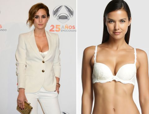Clothing, Arm, Product, Skin, Sleeve, Shoulder, Brassiere, Joint, Waist, White,
