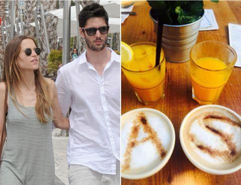 Eyewear, Vision care, Glasses, Drink, Drinkware, Serveware, Sunglasses, Tableware, Shirt, White coffee,