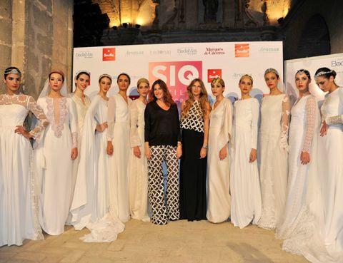 Dress, Gown, Fashion, Peach, Wedding dress, One-piece garment, Bridal clothing, Tradition, Ceremony, Fashion design,