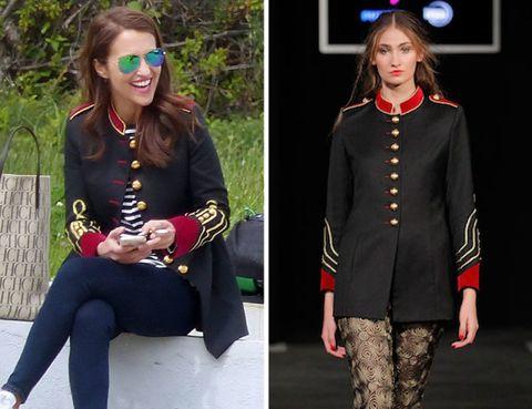Sleeve, Collar, Fashion accessory, Style, Sunglasses, Street fashion, Knee, Blazer, Tights, Collage,