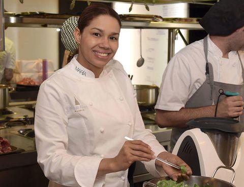Cook, Chef, Chef's uniform, Uniform, Cap, Cooking, Service, Cuisine, Chief cook, Job,