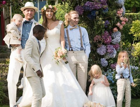 Human, People, Trousers, Dress, Coat, Photograph, Petal, Happy, Child, Wedding dress,