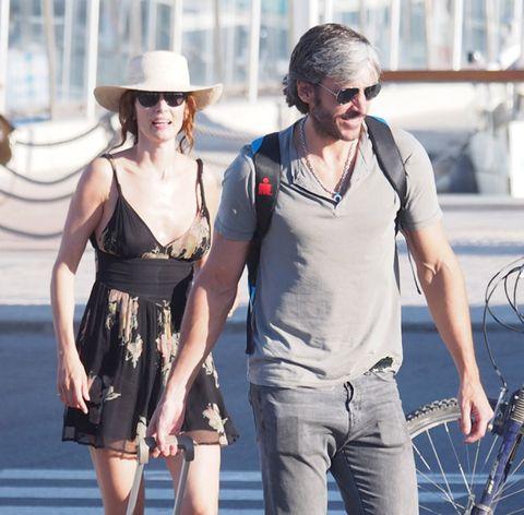 Eyewear, Glasses, Hat, Sunglasses, Dress, Fashion accessory, Goggles, Sun hat, Denim, One-piece garment,