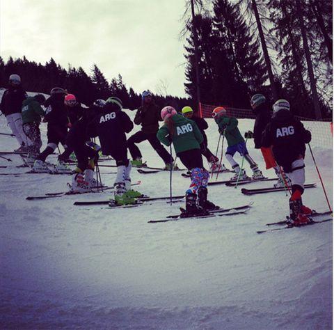 Recreation, Winter sport, Sports equipment, Ski boot, Ski, Winter, Outerwear, Outdoor recreation, Ski Equipment, Ski pole,