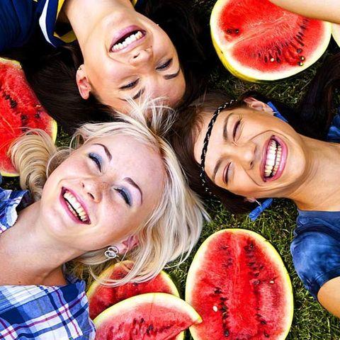Mouth, Smile, Fun, Lip, Citrullus, Fruit, Natural foods, Produce, Happy, Melon,