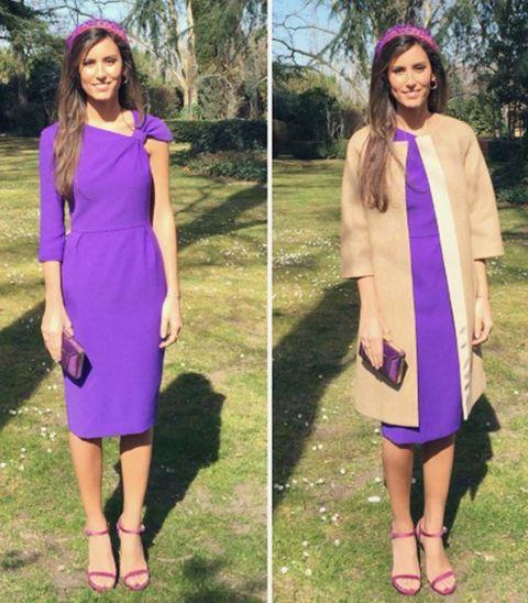 Sleeve, Purple, Dress, Formal wear, Style, Magenta, Lavender, Violet, Fashion, Neck,