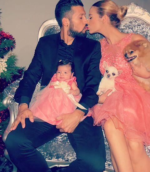 Kiss, Love, Interaction, Holiday, Christmas decoration, Romance, Lap, Christmas ornament, Christmas, Baby,