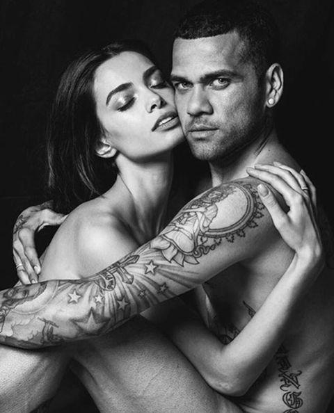 Ear, Arm, Tattoo, Interaction, Wrist, Romance, Muscle, Love, Monochrome photography, Flash photography,