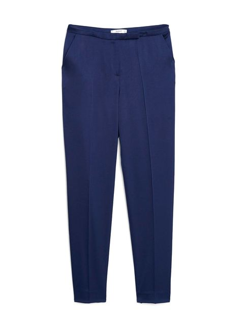 Blue, Trousers, Denim, Textile, Standing, Pocket, Style, Electric blue, Azure, Cobalt blue,