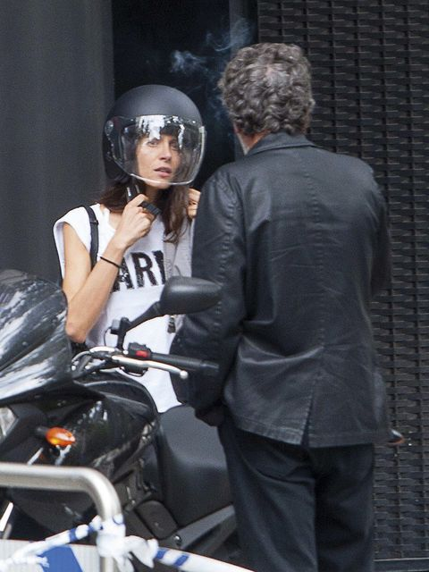 Helmet, Personal protective equipment, Glove, Leather,