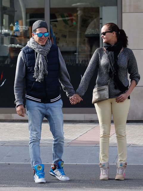 Clothing, Footwear, Leg, Trousers, Textile, Denim, Standing, Outerwear, White, Street fashion,