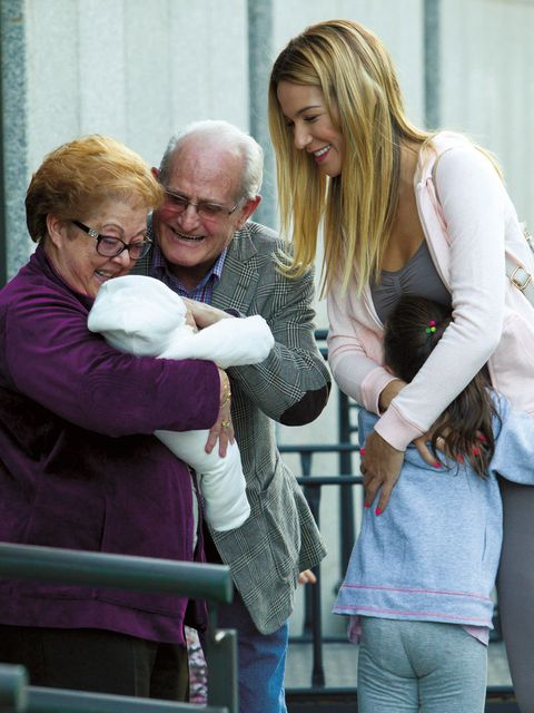 Glasses, People, Product, Interaction, Bag, Blond, Grandparent, Love, Laugh, Toy,