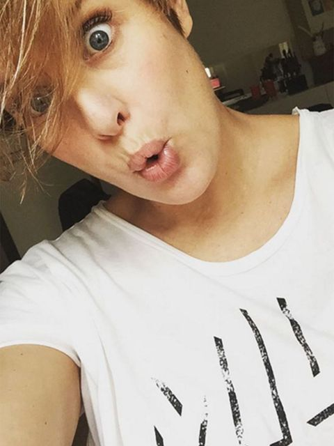 Lip, Cheek, Mouth, Skin, Chin, Shoulder, Eyelash, Jaw, Neck, Selfie,