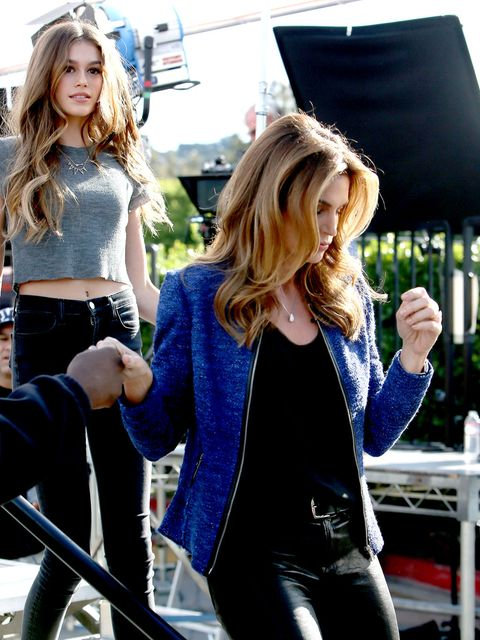 Outerwear, Style, Waist, Street fashion, Blazer, Blond, Denim, Bag, Long hair, Belt,