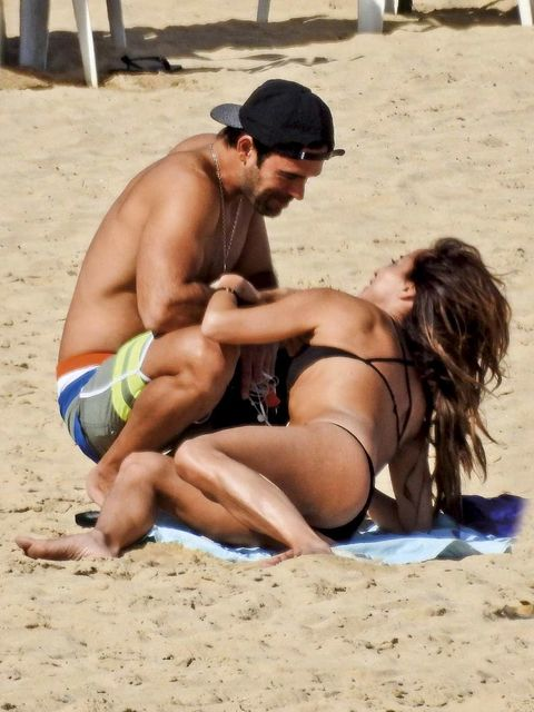 Fun, Sand, Human leg, Cap, People on beach, People in nature, Summer, Barefoot, Barechested, Hat,