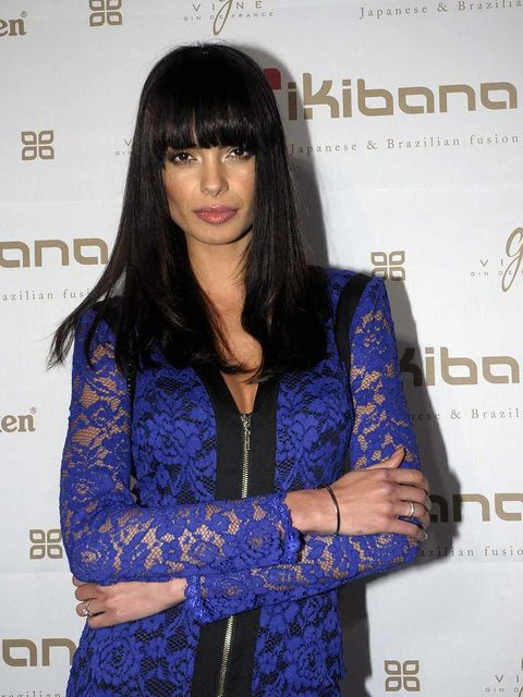 Sleeve, Bangs, Eyelash, Electric blue, Black hair, Long hair, Step cutting, Cobalt blue, Hime cut, Layered hair,
