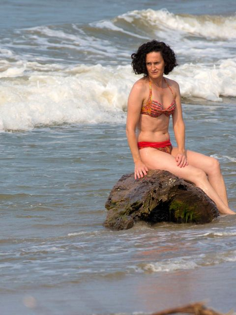 Body of water, Human, Fun, Hairstyle, Water, People in nature, Summer, Swimwear, Brassiere, Vacation,