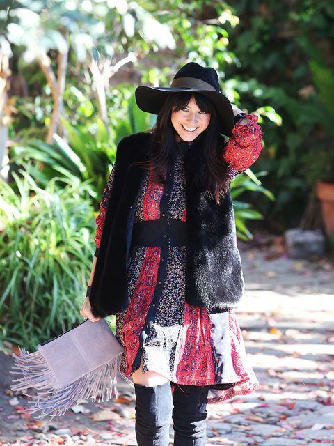 Clothing, Hat, Textile, Outerwear, Fashion accessory, Bag, Sun hat, Street fashion, Pattern, Headgear,