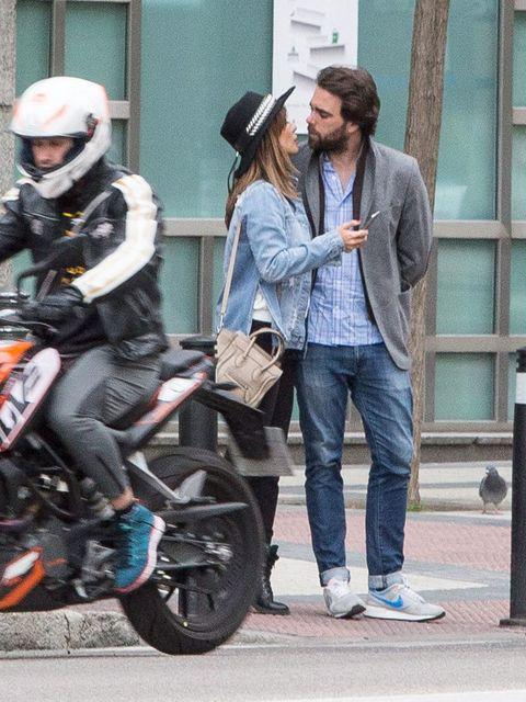 Clothing, Motorcycle, Motorcycle helmet, Trousers, Shoe, Shirt, Helmet, Outerwear, Denim, Jacket,