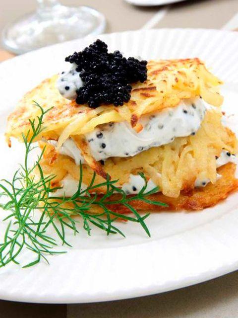 Food, Cuisine, Dishware, Caviar, Ingredient, Dish, Plate, Tableware, Breakfast, Garnish,