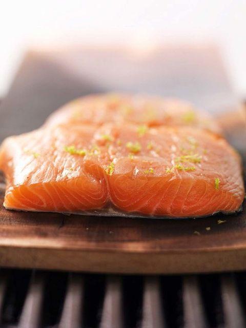 Food, Cuisine, Ingredient, Orange, Fish slice, Peach, Salmon, Musical instrument, Sashimi, Dish,