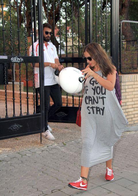 Balloon, Toy, Street fashion, Iron, Sneakers, Walking shoe, Fence,