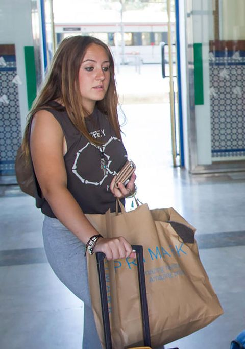 Clothing, Brown, Shoulder, Joint, Bag, Style, Fashion accessory, Luggage and bags, Street fashion, Beauty,