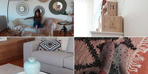 Human, Room, Interior design, Serveware, Human leg, Dishware, Living room, Furniture, Wall, Couch,