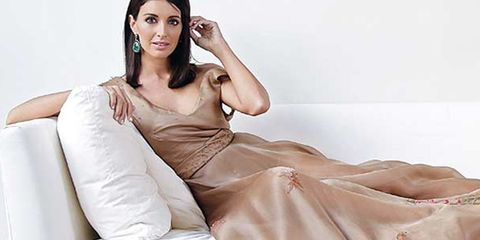 Hairstyle, Textile, Dress, Sitting, Beauty, Fashion, Youth, Couch, Comfort, Model,