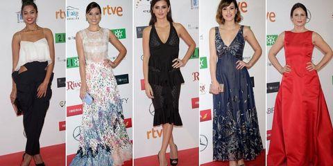 Clothing, Dress, Flooring, Event, Shoulder, Red, Joint, Outerwear, Formal wear, Carpet,