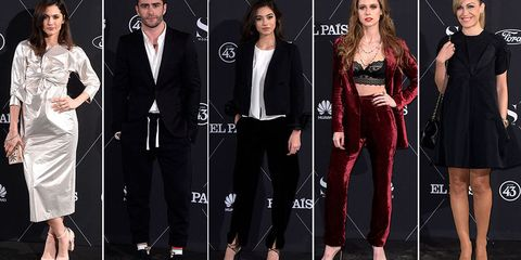 Footwear, Outerwear, Coat, Formal wear, Suit trousers, Fashion, Dress, Blazer, Public event, Fashion design,