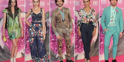 Clothing, Footwear, Pink, Magenta, Style, Flooring, Dress, Carpet, Fashion, Waist,