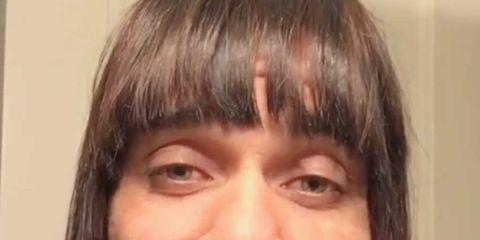 Hair, Facial hair, Lip, Cheek, Hairstyle, Chin, Forehead, Eyebrow, Moustache, Bangs,