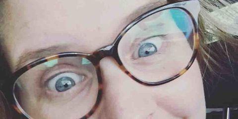 Eyewear, Glasses, Vision care, Smile, Lip, Cheek, Skin, Chin, Forehead, Eyebrow,